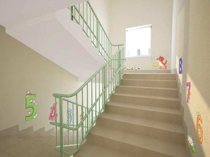 Дизайн лестницы в детском саду фото